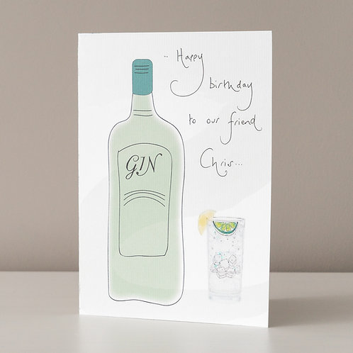 Gin Bottle and Glass Design