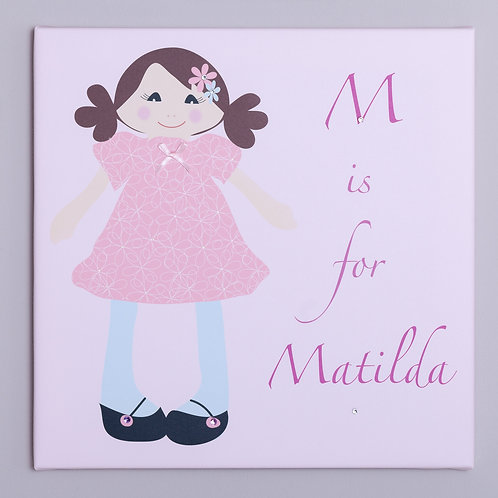 Rag Doll Personalised Canvas
