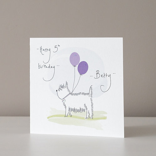 Westie Dog with Balloons Design