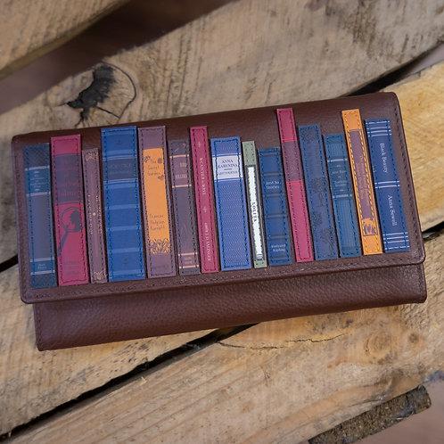 Bookworm Flap Over Leather Purse