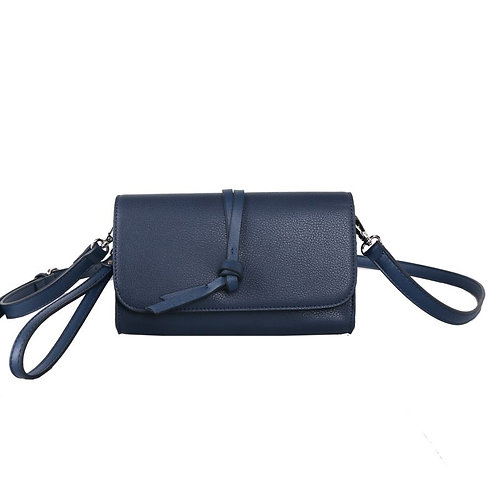 Navy Knotted Tassel Cross Body Bag by Red Cuckoo London