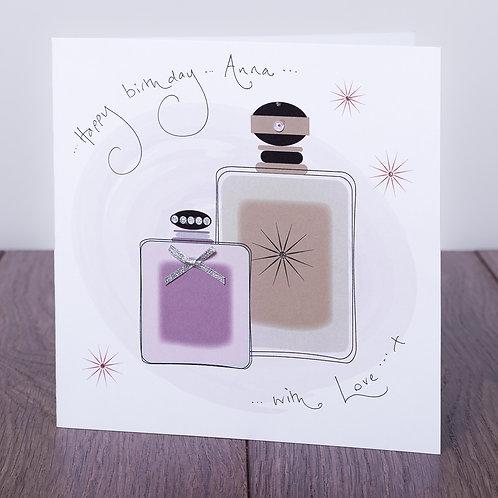 Perfume Bottles Design - Large Card