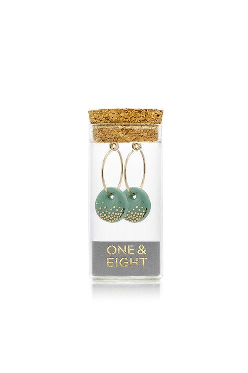 Handmade Porcelain Sage Mist Earrings