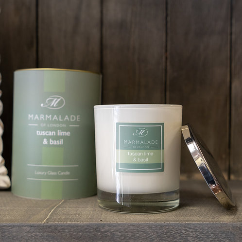 Tuscan Lime & Basil Large Candle by Marmalade