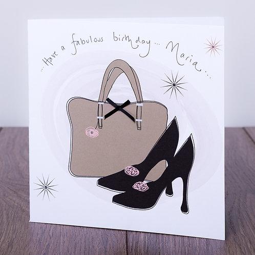 Handbag and Shoes - Large Card
