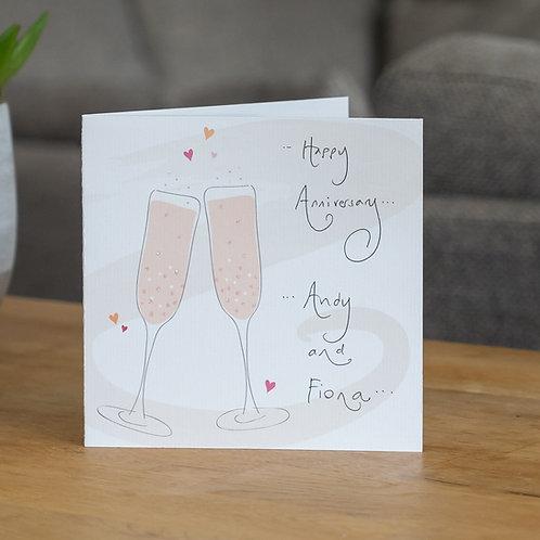 Toasting Champagne Glasses Design