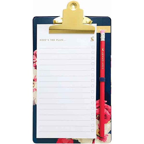 Joules Bircham Bloom List Pad and Clipboard