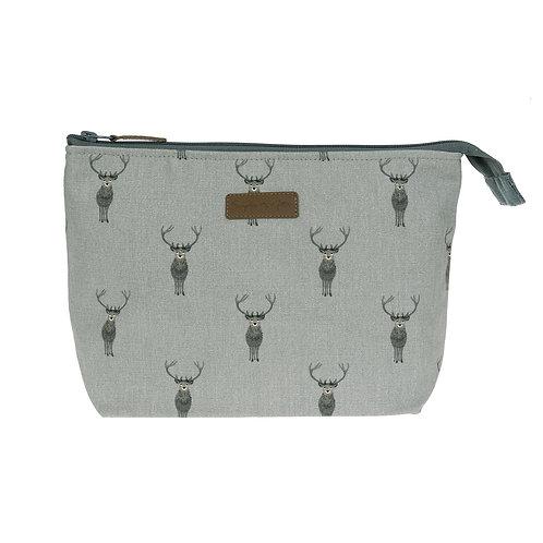 Highland Stag Large Canvas Wash Bag by Sophie Allport