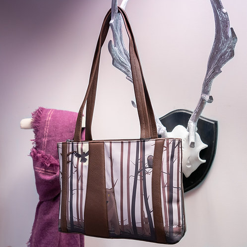 Into The Wild Leather Handbag