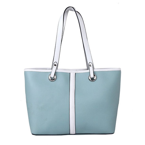Mint Shoulder Bag with White Straps and Detail by Red Cuckoo London