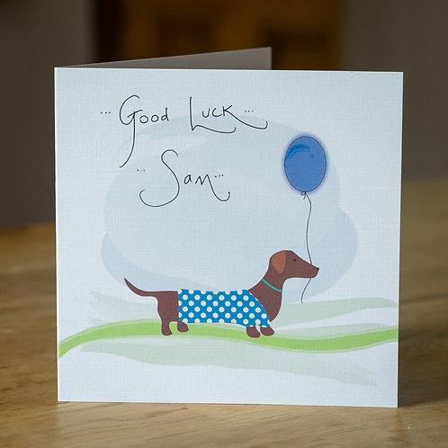 Dachshund Sausage Dog  Design - Personalised Card