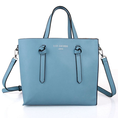 Sky Blue Knot Tote Bag by Red Cuckoo London