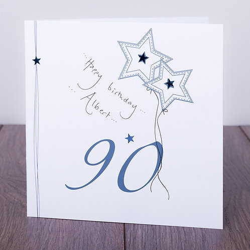 90th Birthday Blue Star