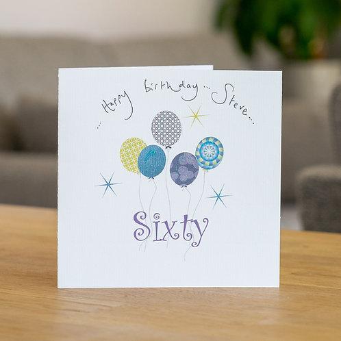 Birthday Balloons - Age Sixty