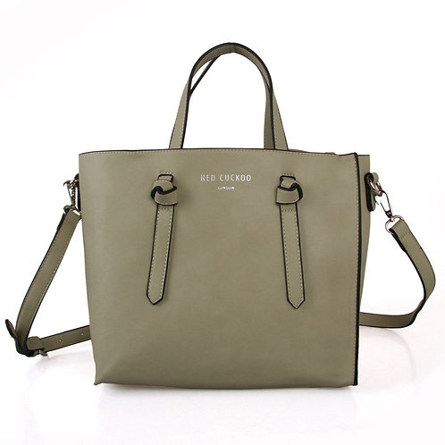 Tea Green Knot Tote Bag by Red Cuckoo London