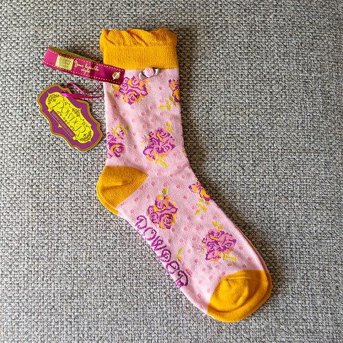 Bamboo Ankle Socks - Rosebud Design