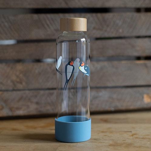 RSPB Glass Water Bottle