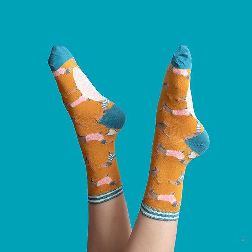 Bamboo Ankle Socks - Jumper Sausage Dog