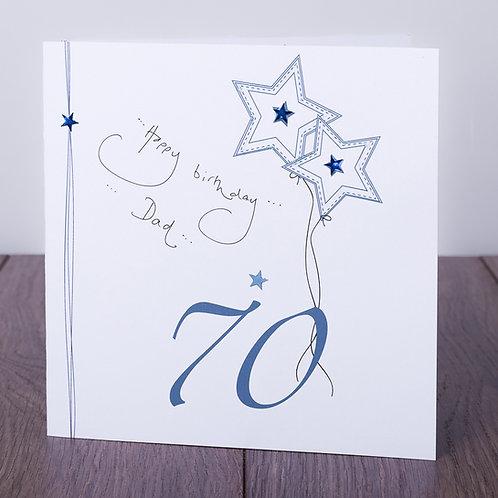 70th Birthday Blue Star