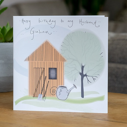 Garden Shed Design - Large Card
