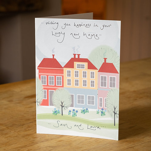 Coloured Houses Design New Home Card