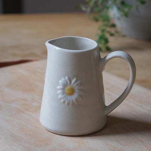 Mini Ceramic Jug  -  Daisy Design