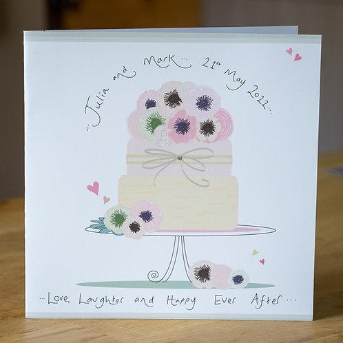 Celebration Cake Design - Large Personalised Card
