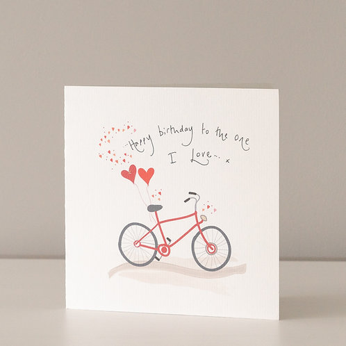 Red Bicycle and Hearts Design