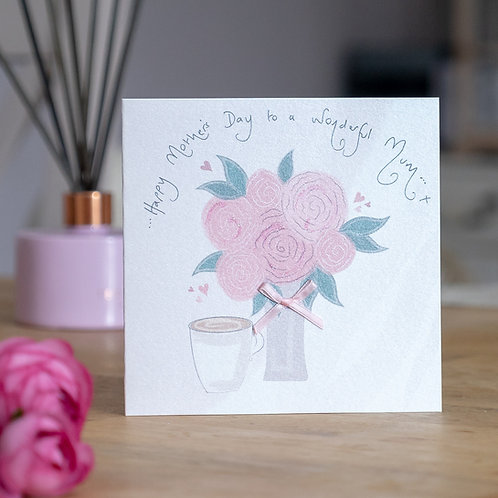 Bouquet of Roses Design Mother's Day Card