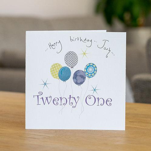 Birthday Balloons - Age Twenty One