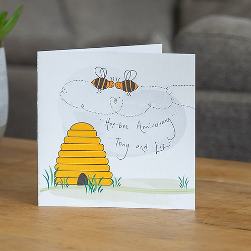 Bees over Beehive Design