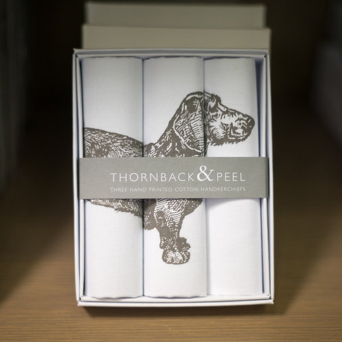 Dachshund Handkerchief Set by Thornback & Peel