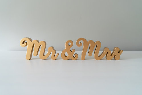 Free Standing Mr & Mrs Letters