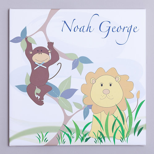 Monkey and Lion Personalised Canvas