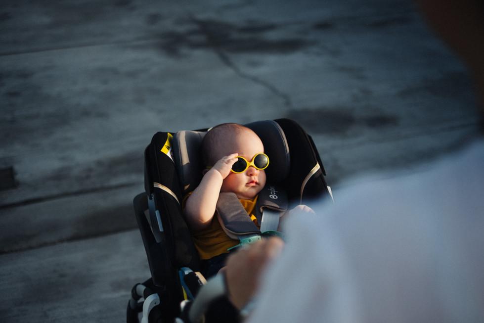 Baby saluting