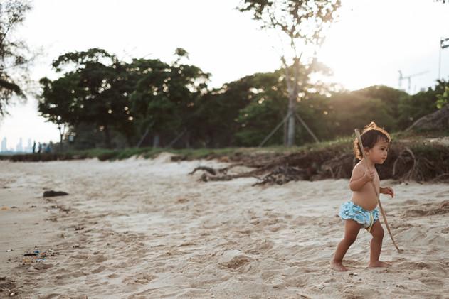 Wild Child by the beach