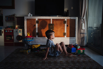 A boy and the shadow of his father