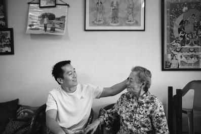 Grandson and grandma in HDB