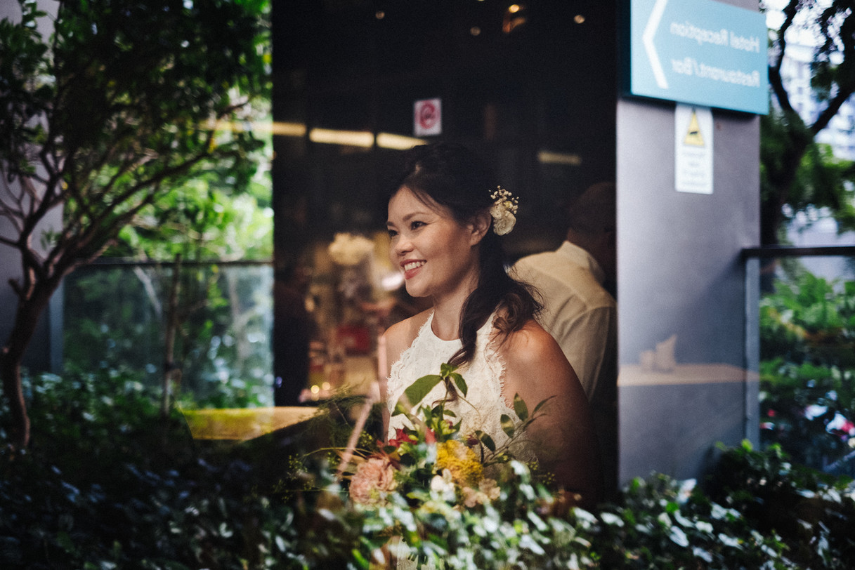 Reflections of the bride