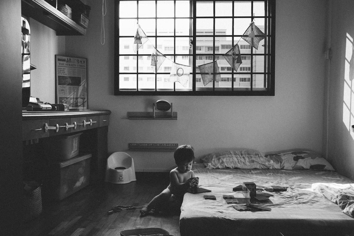 Child in her bedroom