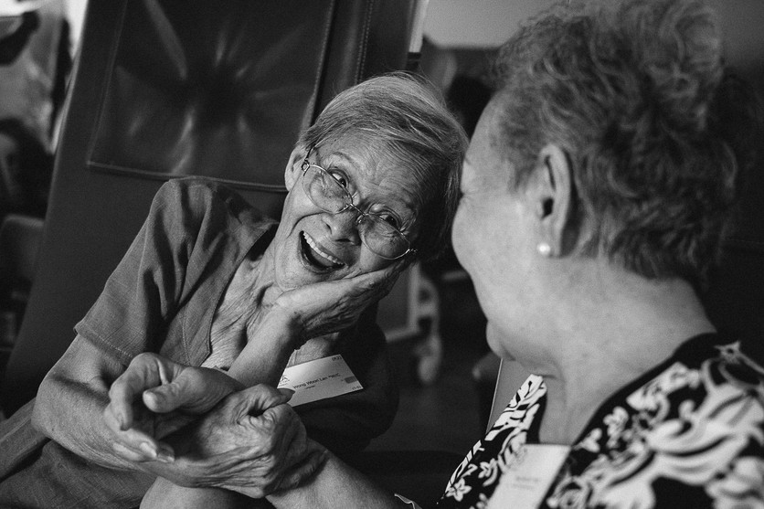 Friends at hospice care