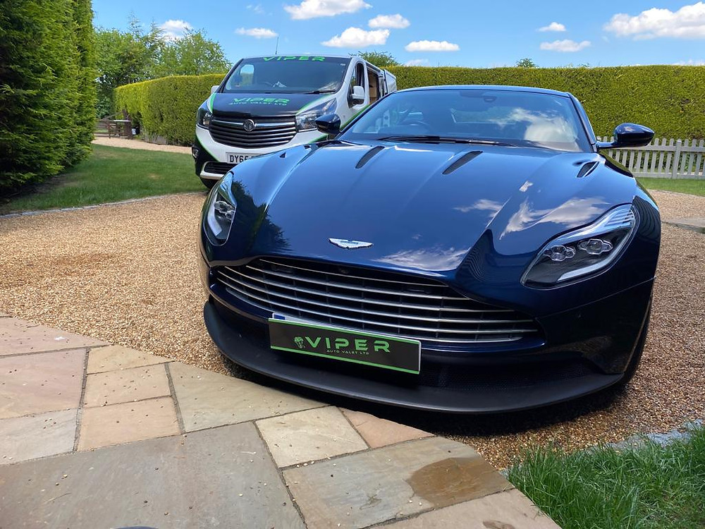 A trip to Stansted was needed to give this stunning ASTON MARTIN DB11 silver valet.