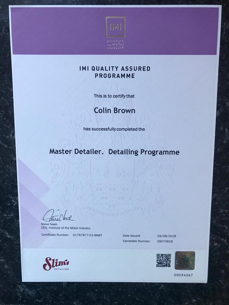 Master Detailer - Detailing Programme Certification