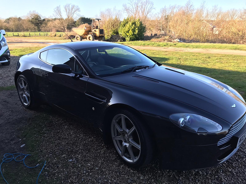 An amazing car in need of some love and care. Now looking so much better and looking as an Aston Martin should do.