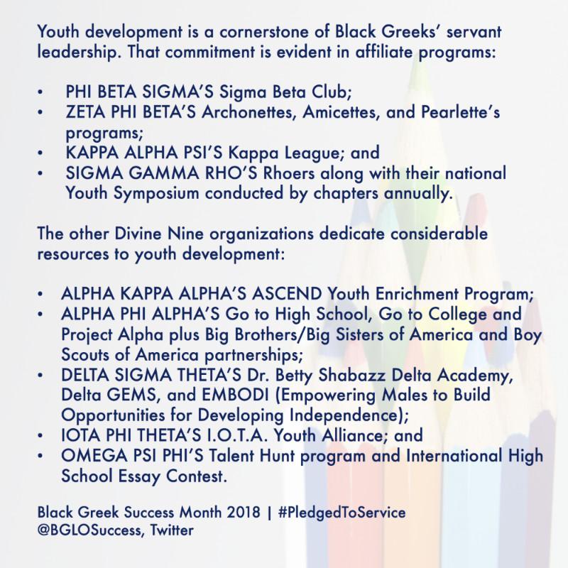 Black Greek Life Speaker Pledge To Serve Intiative