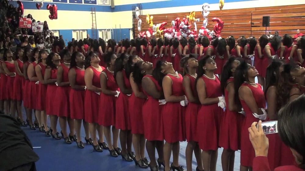 Delta Sigma Theta Sorority, Inc. neophytes at Hampton Univ. fall 2012