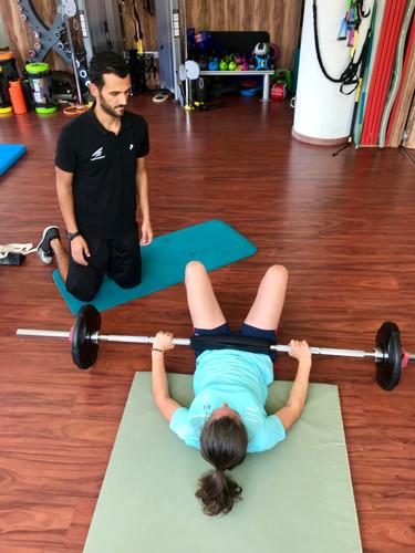 Mathilde Gremaud & Antoine Borgeaud - Préparation physique - Travail de force des membres inférieurs - Hip thrust