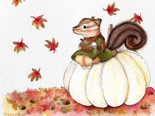Faecorn and Autumn Squirrel Fairy