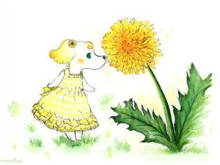 Mindy the Dandelion Fairy Pup