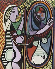 Pablo Picasso_La jenune femme devant un